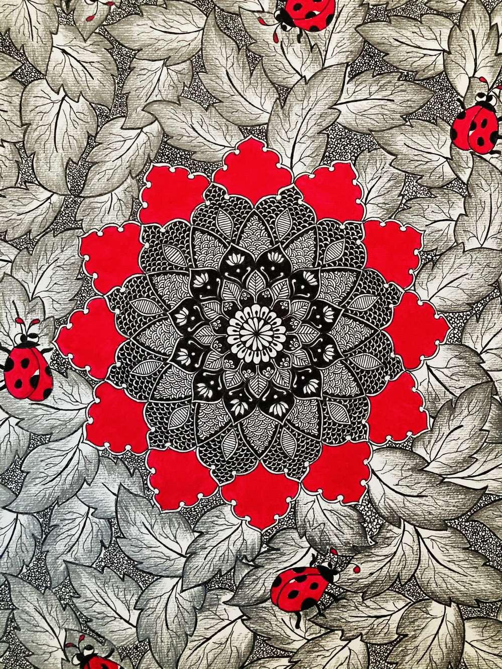 Forest floor mandala art print