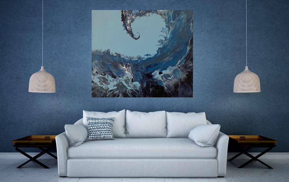 THE WAVE Medium Grain Canvas