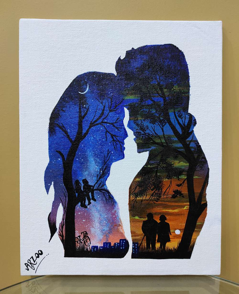 Canvas Acrylic Painting- Love couple