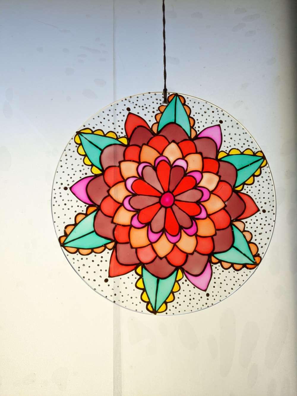 Sunny floral suncatcher