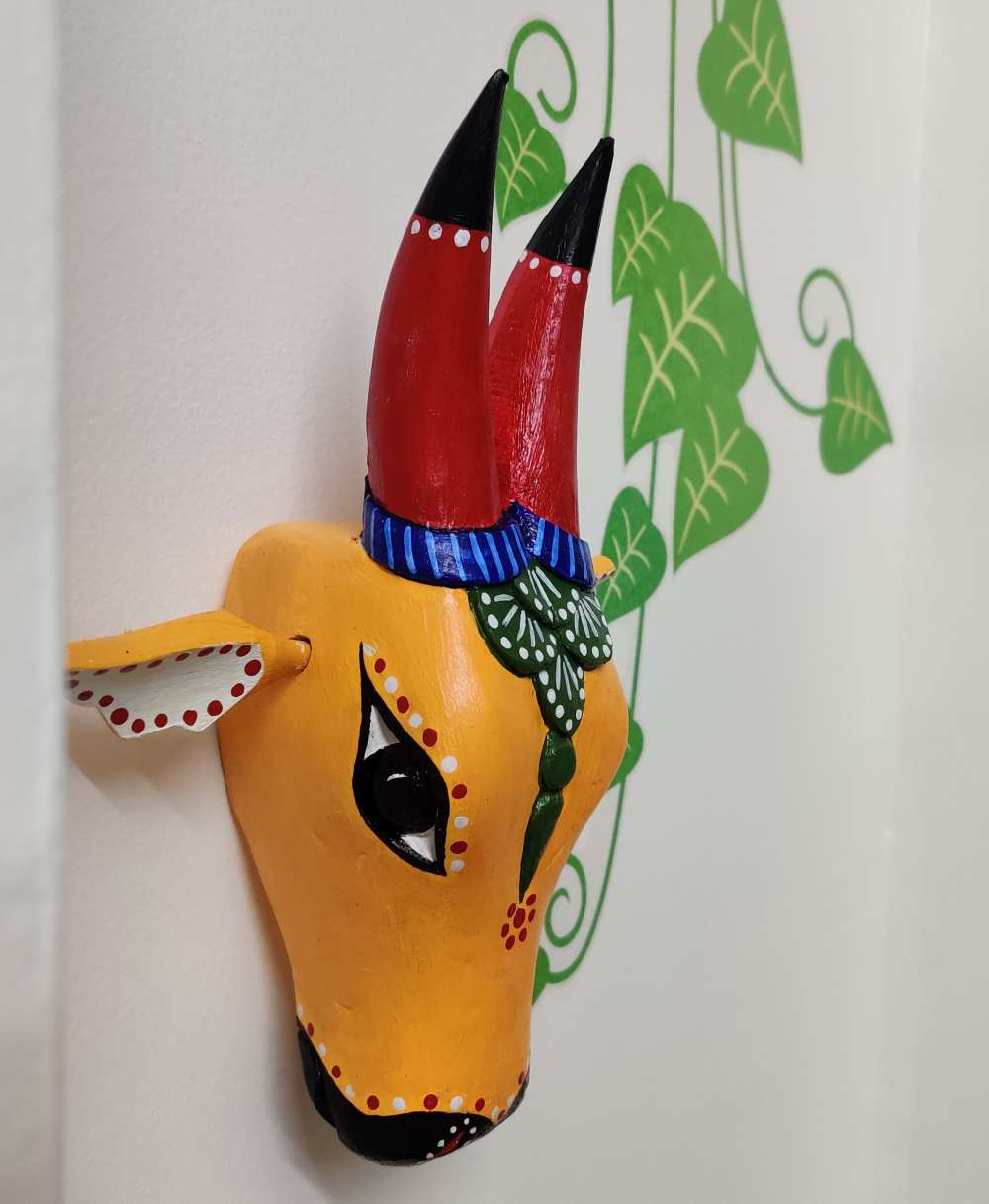 Nandi cow head_ wooden wall decor