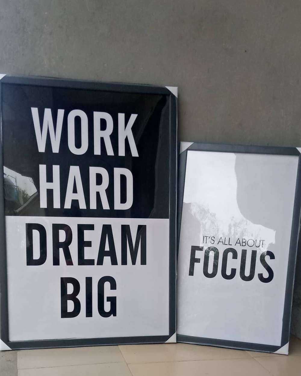 Set of Two Motivational Quote Wall Frames