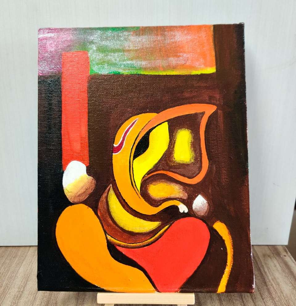 Ganpati Abstract Painting