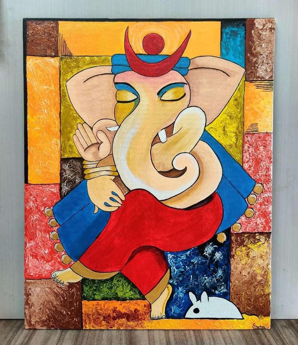 Ganpati Mandala Art