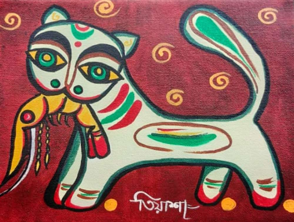 Canvas Jamini Roy Painting