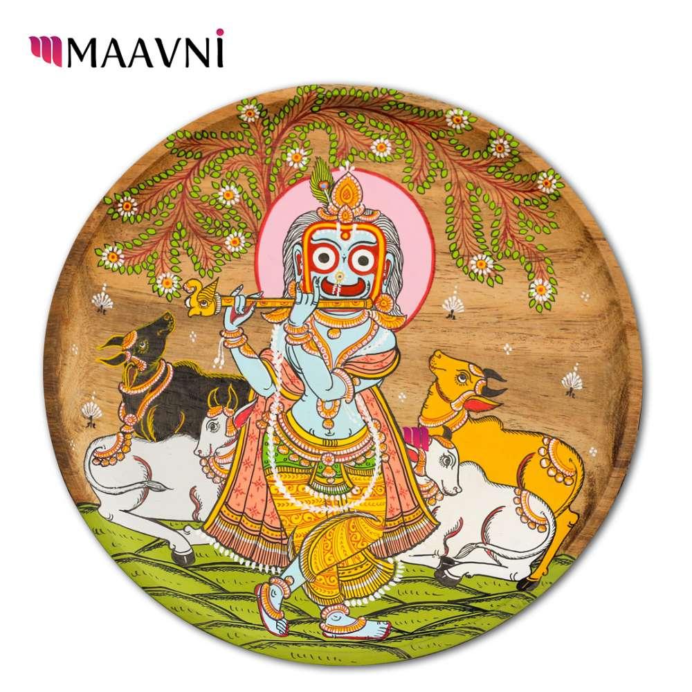Krishna and Cows in Jungle 8 Inches