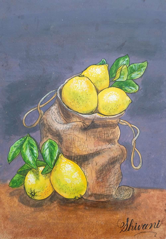 Lemons realistic Painting