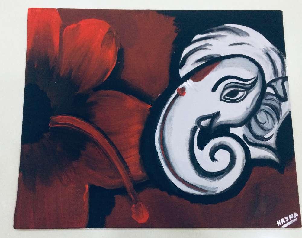 Ganpati acrylic painting