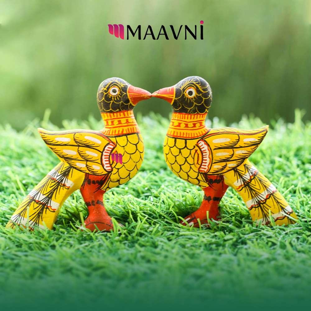 Yellow Bird Wood Toy Cutouts