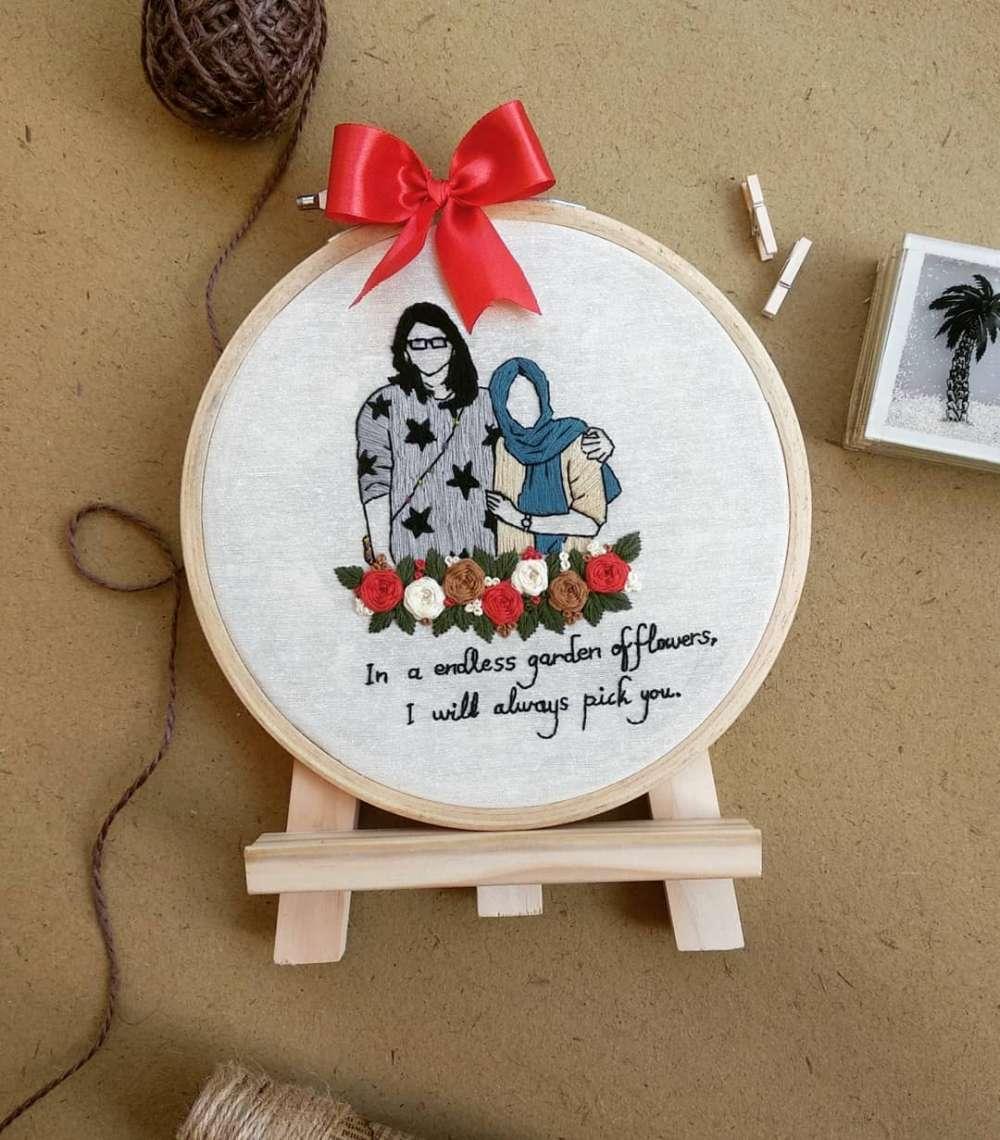 Customised Embroidery Hoop Art