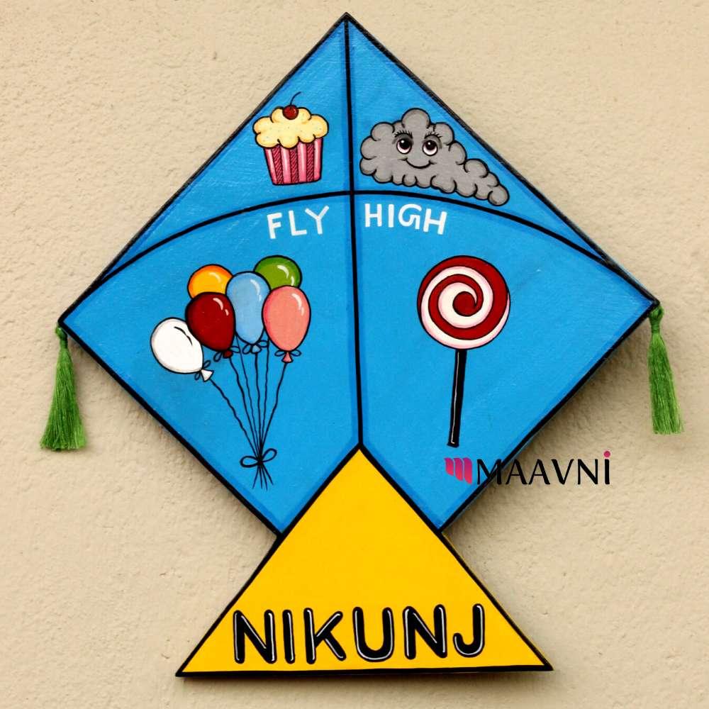 Kite Theme Kids Nameboard