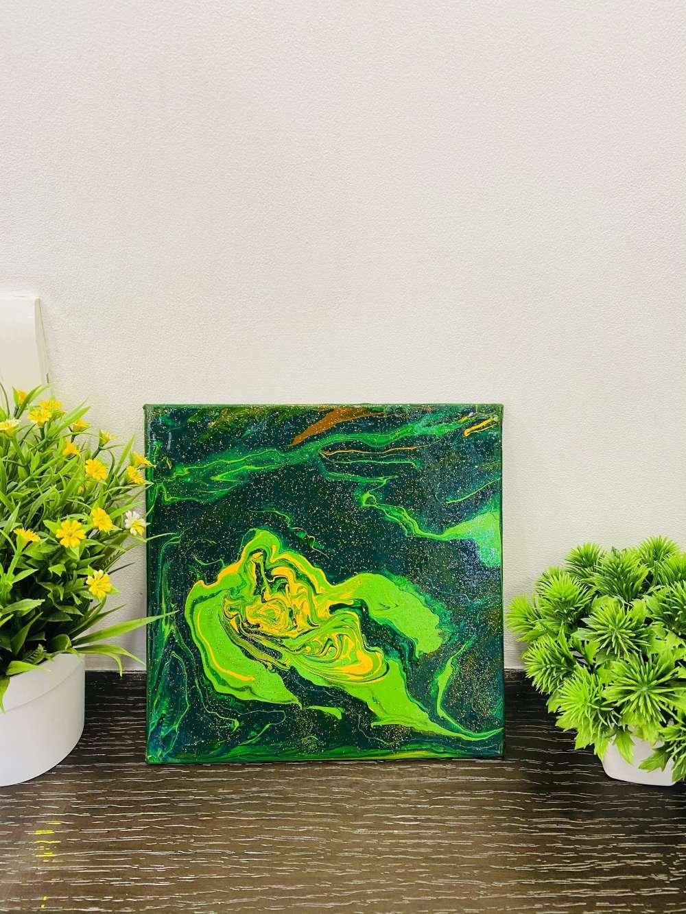Earthy colors fluid art