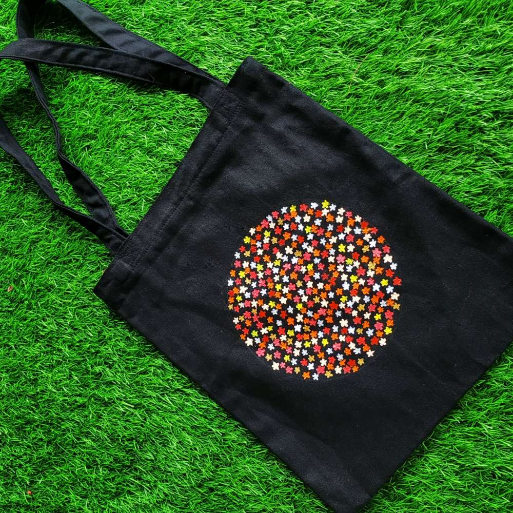 Hand painted Flower pattern art on pouch