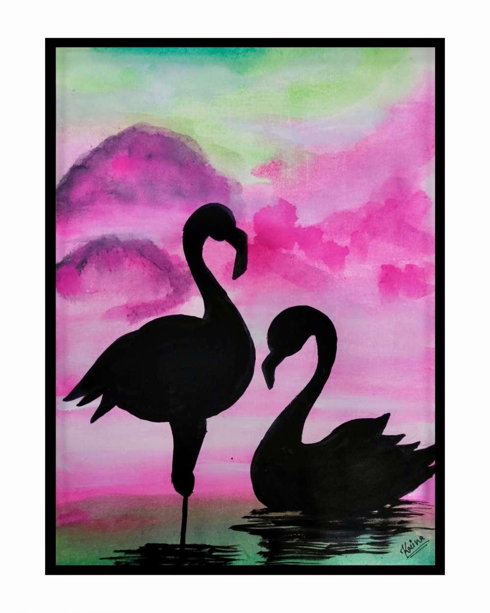 Swan painting