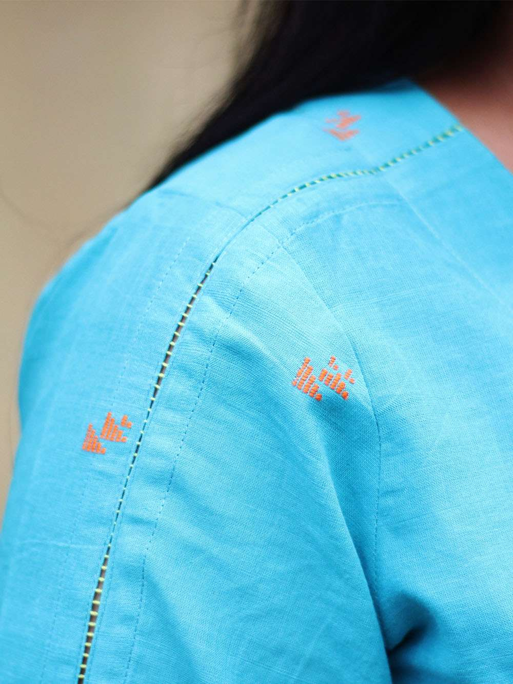 Handloom Cotton Rocket motif dress