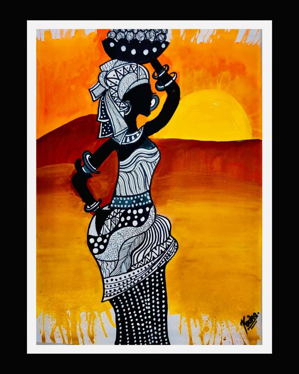 African doodle art