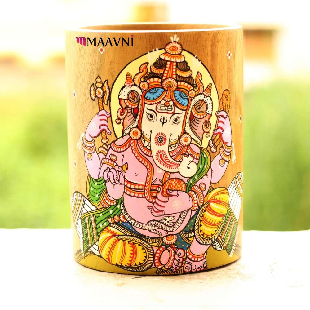 Ganesha Pattachitra Pen Stand