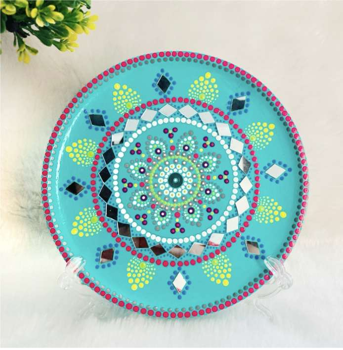 Turquoise wall plate