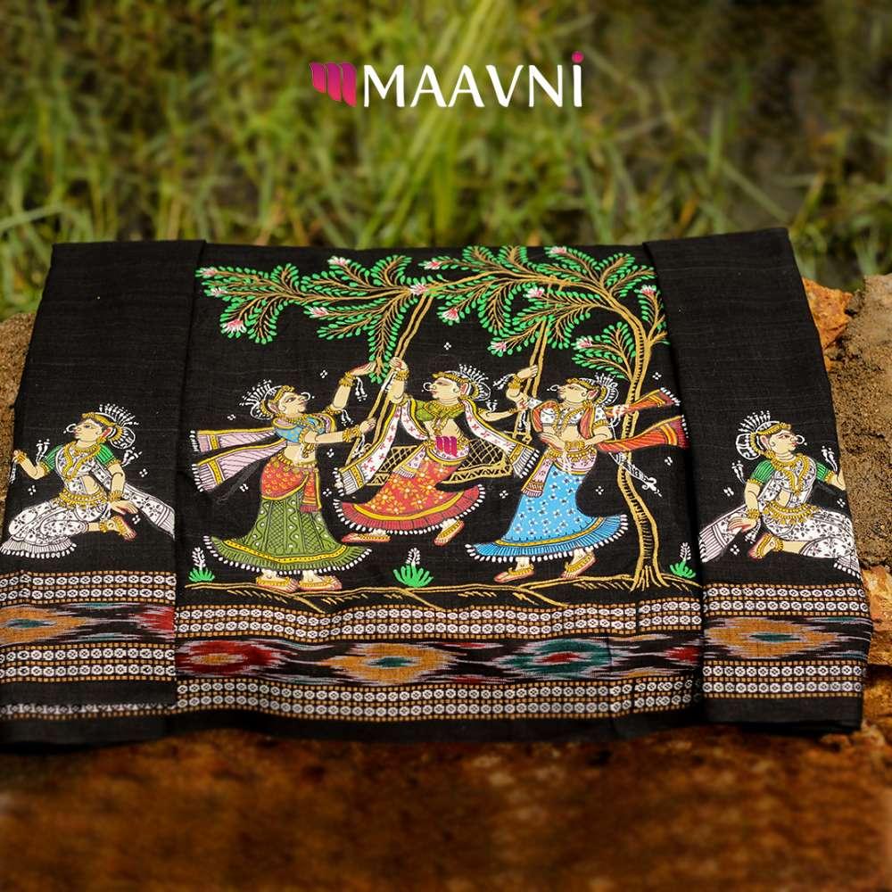 Raja Festival Pattachitra Blouse Piece 1Mt