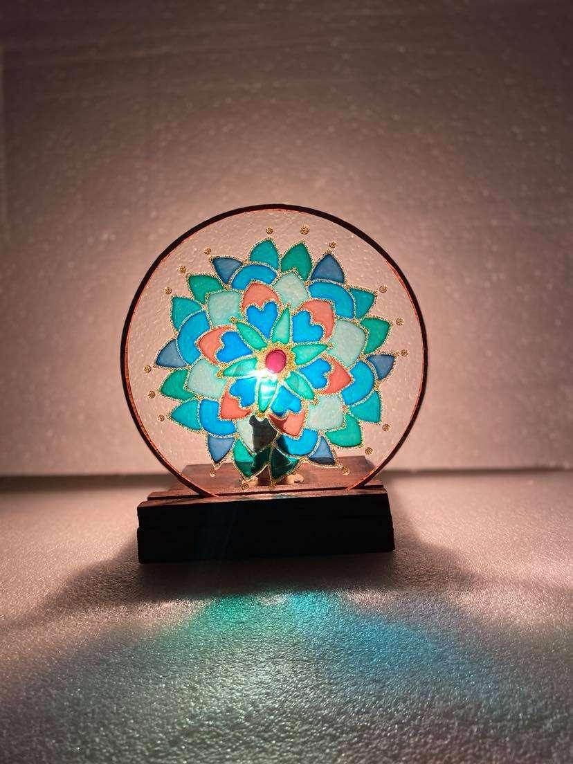 Blue Mandala lamp