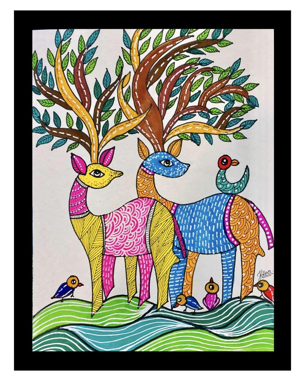 Deer Gond art
