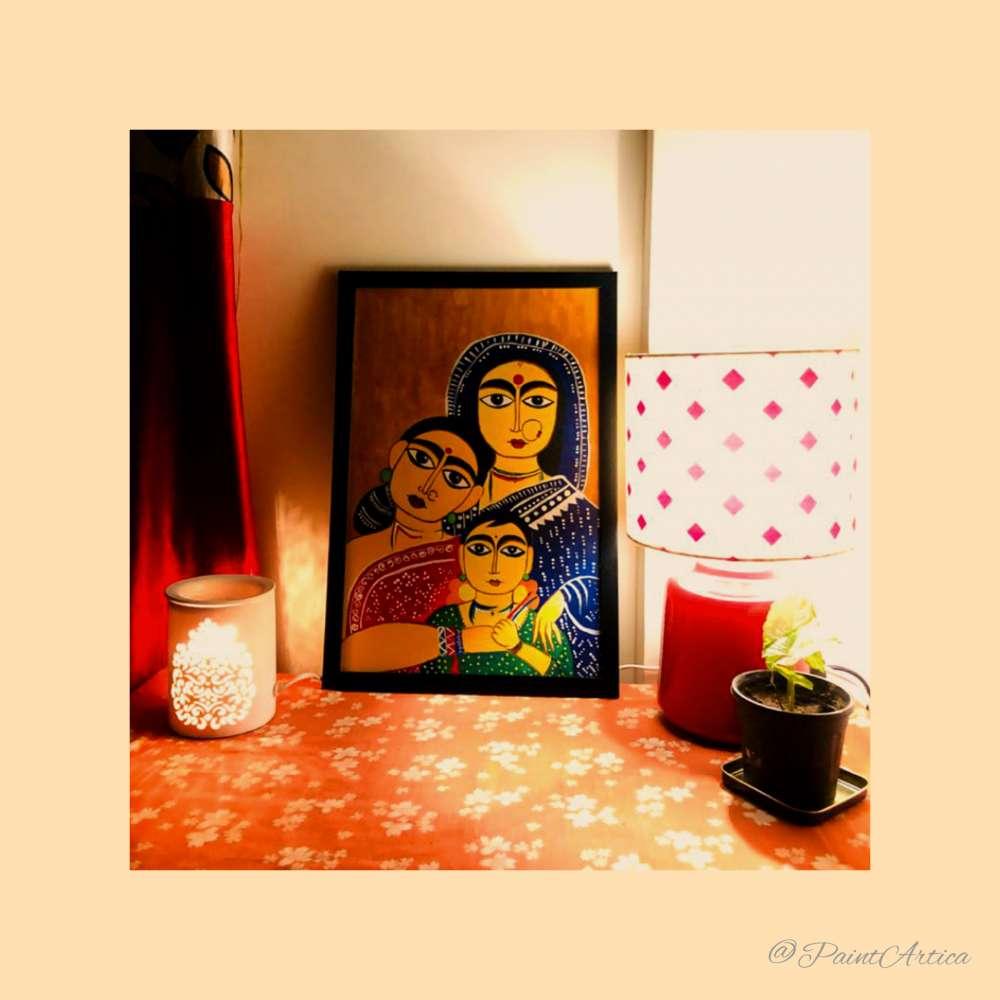 3 women Jamini Roy painting