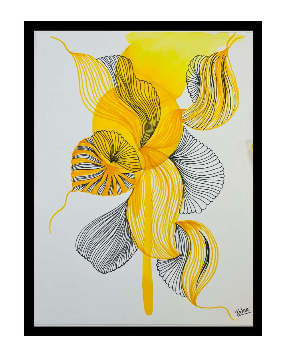 Abstract line art illustration
