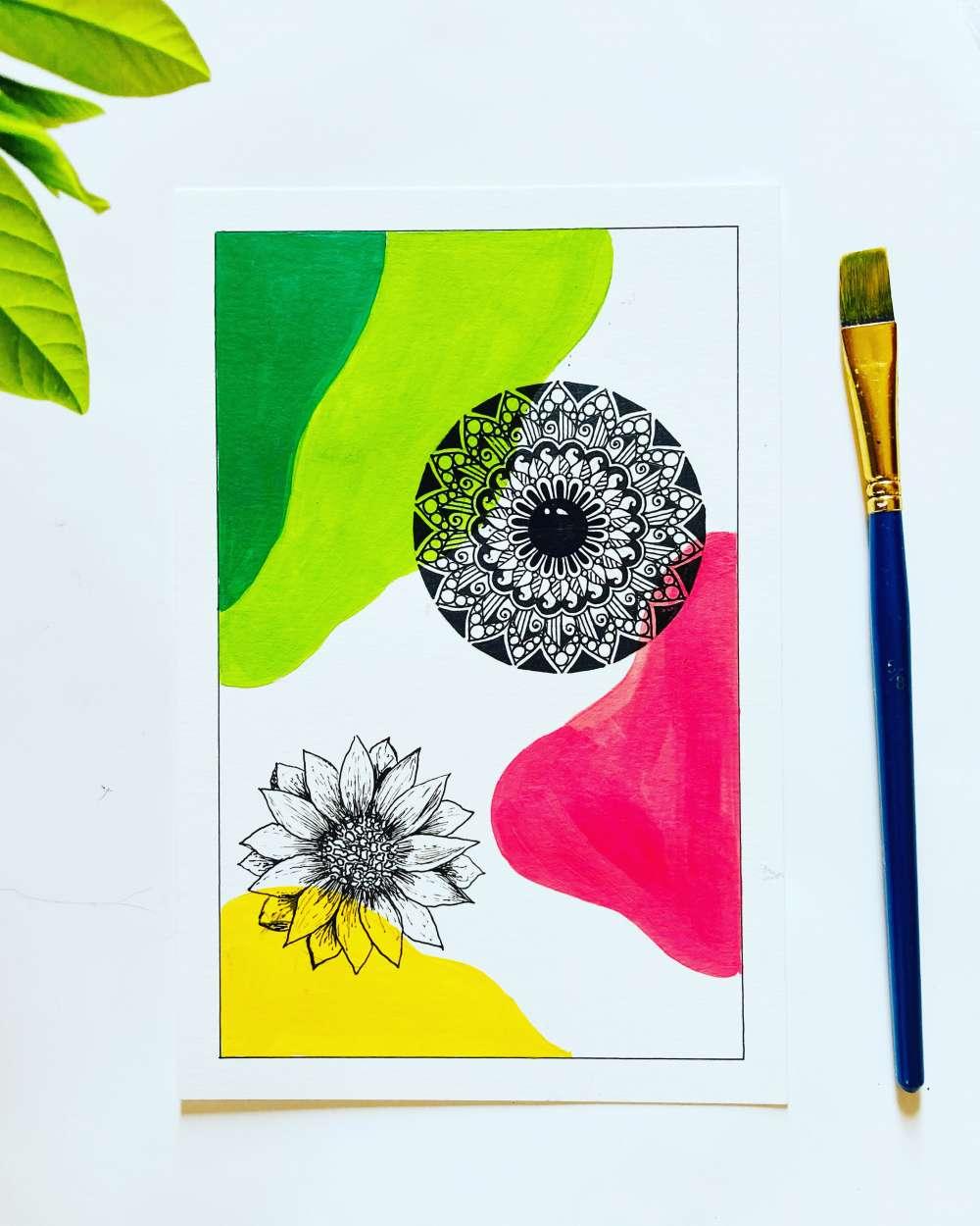 Floral mandala print