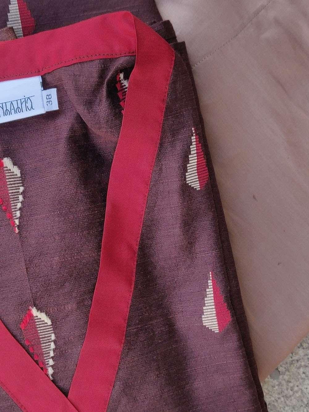 Cedar Brown Cotton Silk Kurta Set