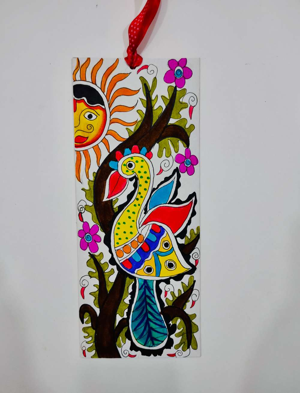Peacock bookmark