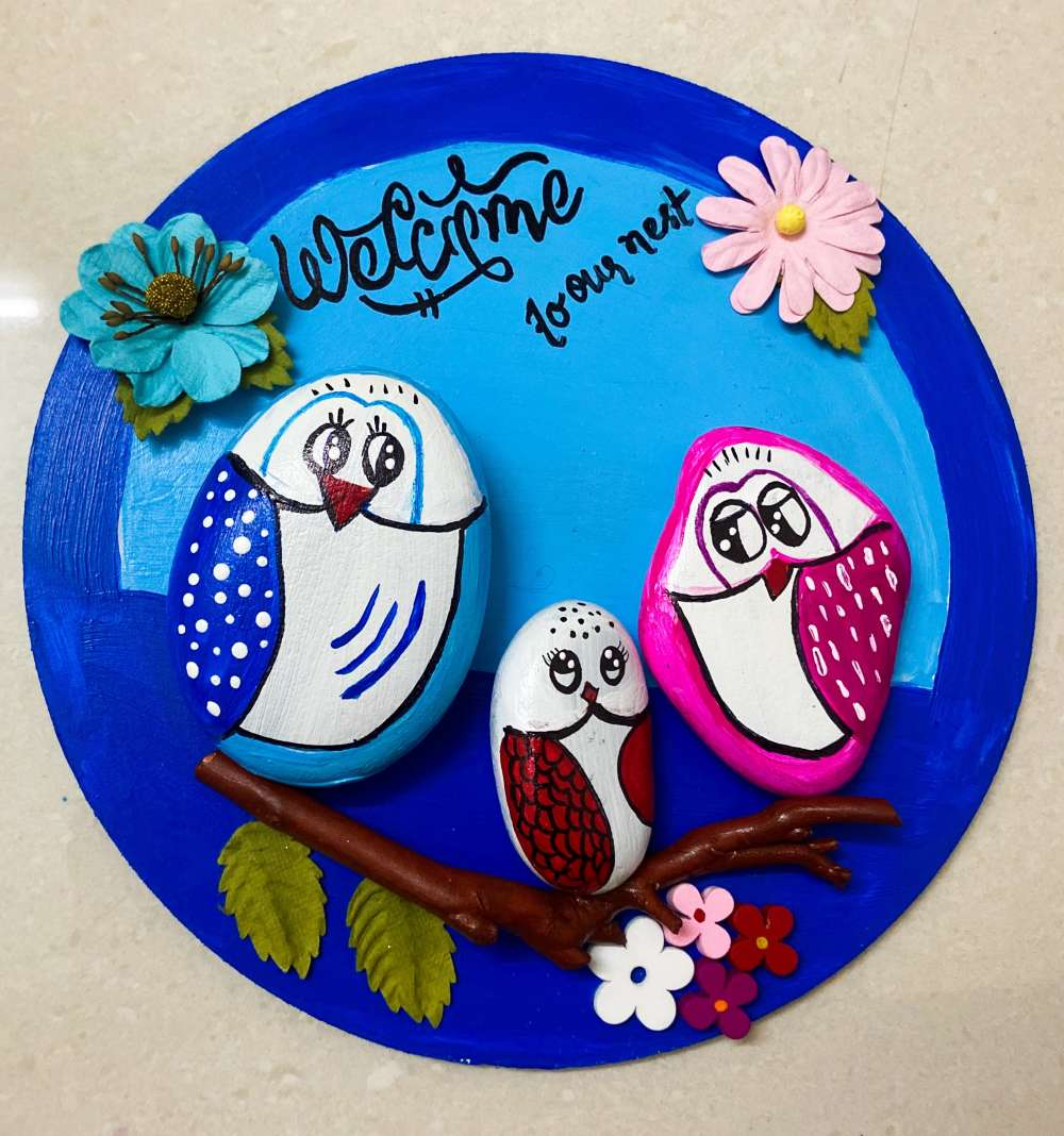 Owl-themed Nameplate / Wall Plate