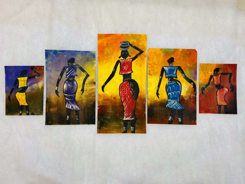 African art canvas painting
