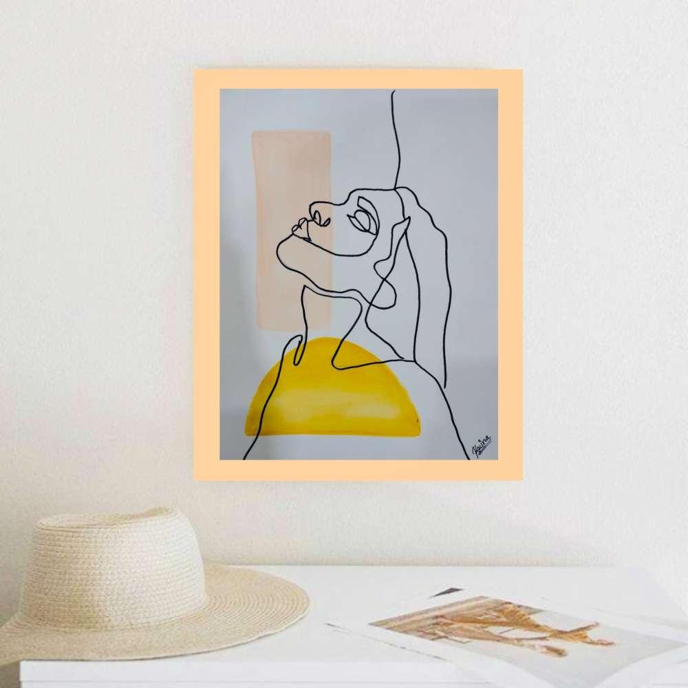 Modern minimal line art