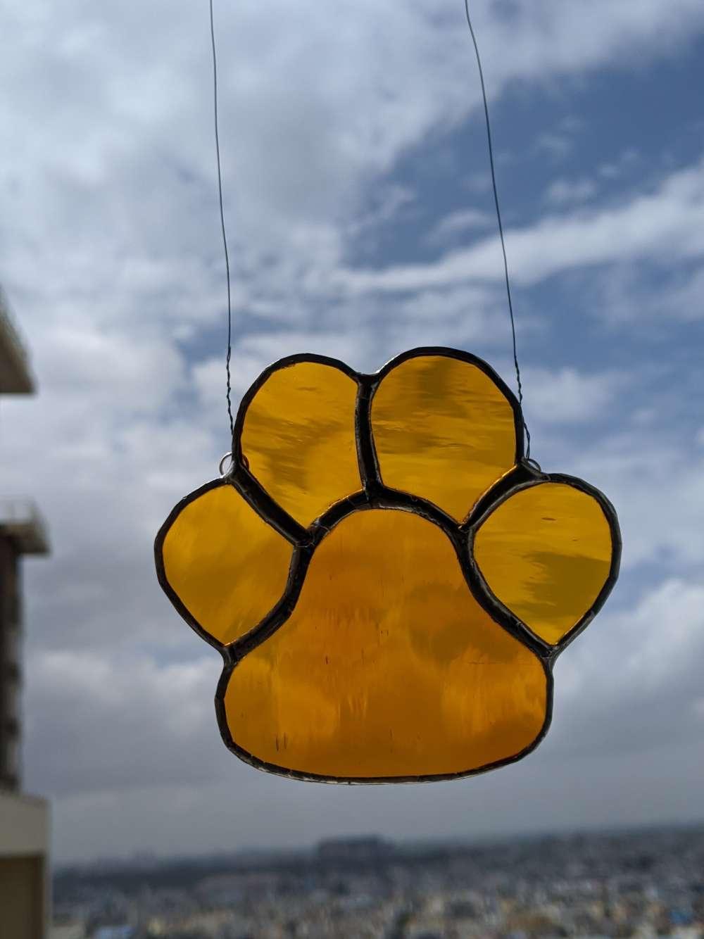 Dog paw hanging