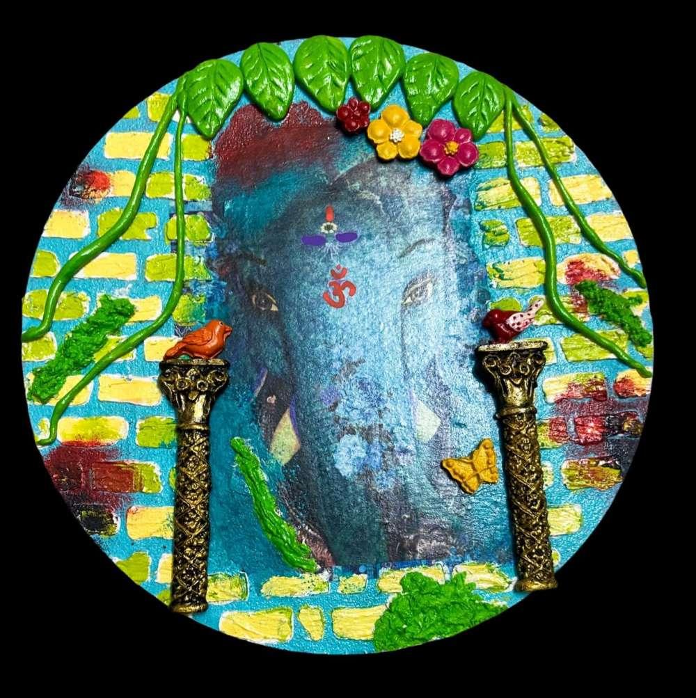 Elephant-themed Wall Hanging / Wallplate / Key Holder