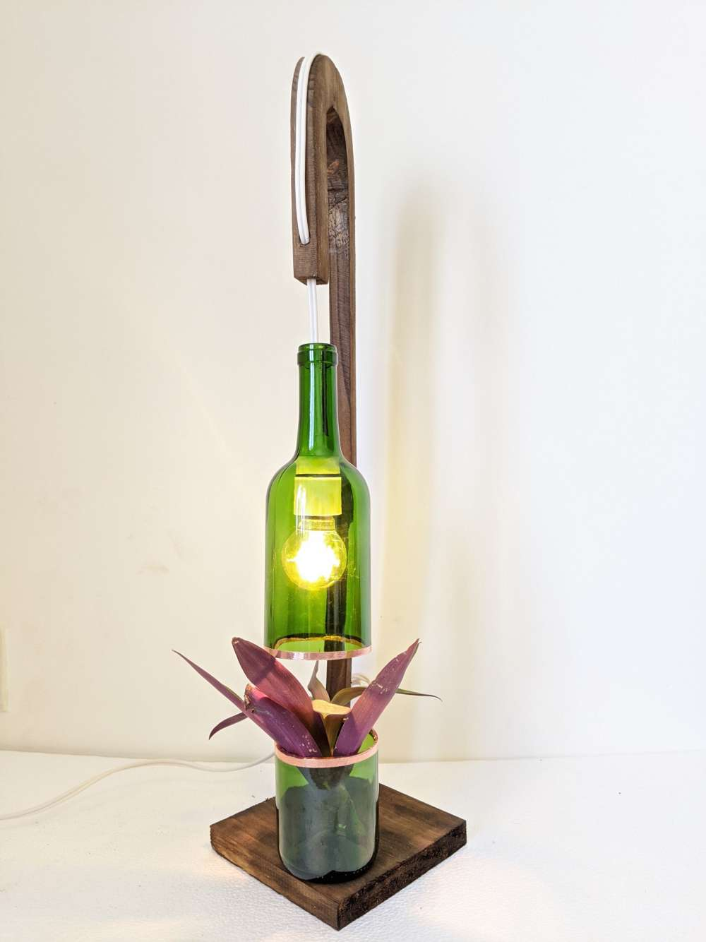 Upcycled Planter lamp