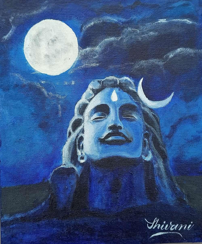 Adiyogi Mahadev Painting