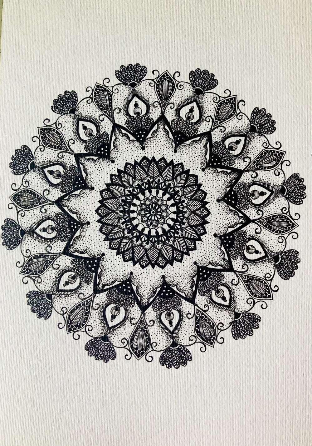 Black & white mandala