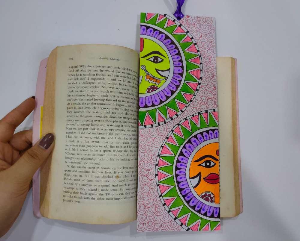 Sun Madhubani bookmark