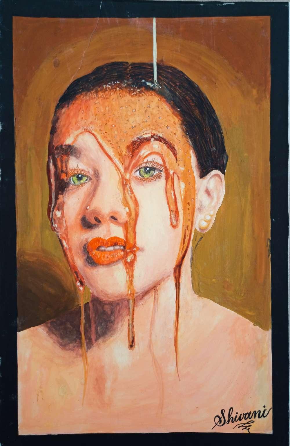Honey  girl painting