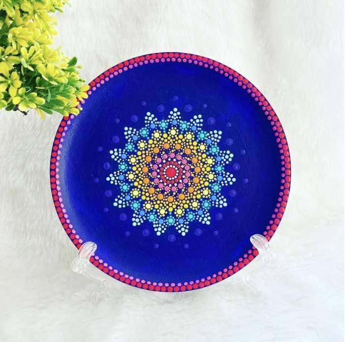 Dot mandala wall plate