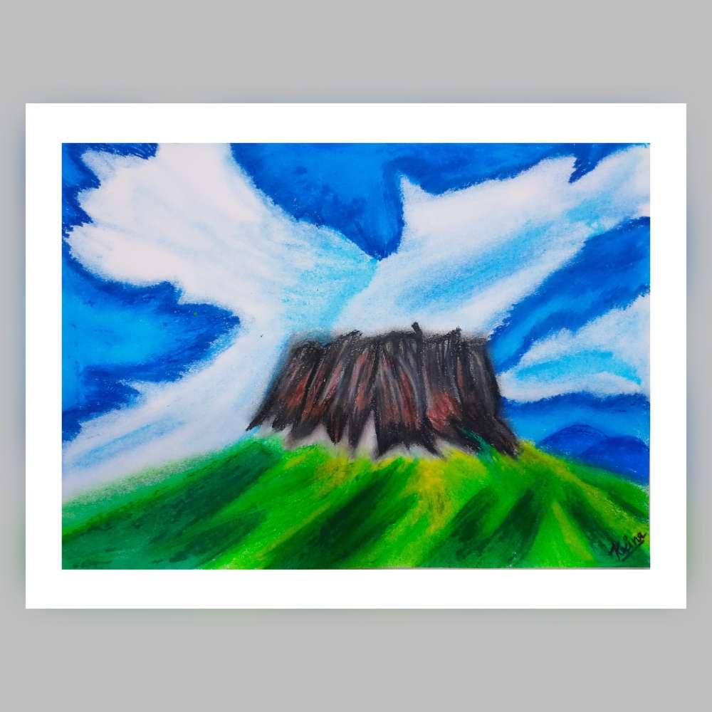 Oil pastels art
