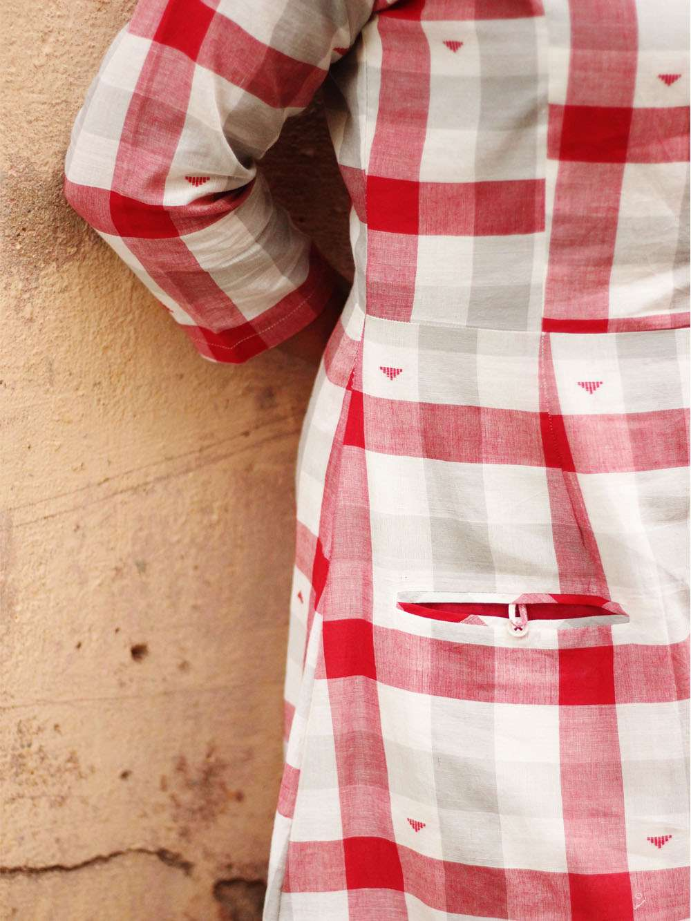 Handloom Cotton Checks dress