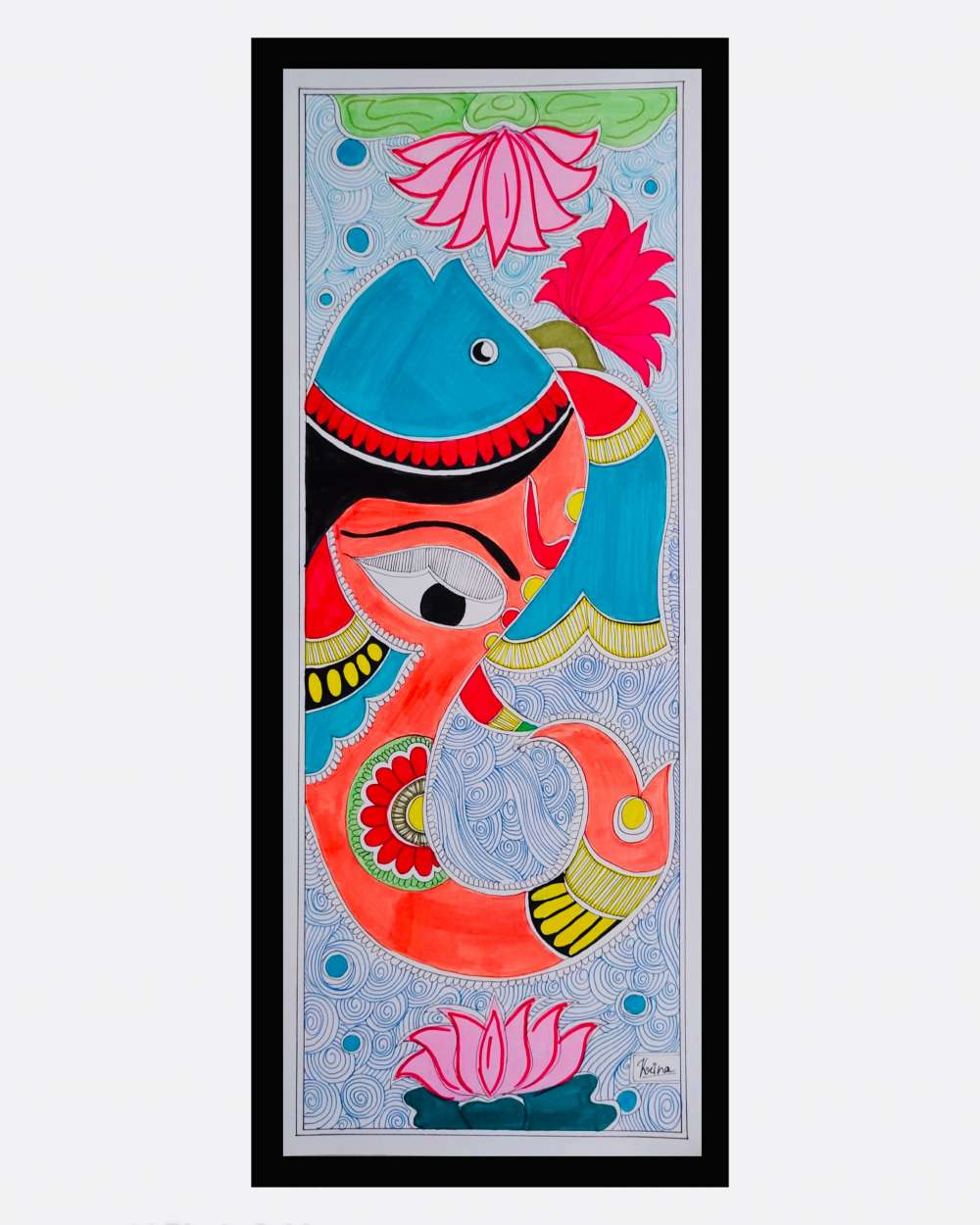 Ganpati Madhubani art