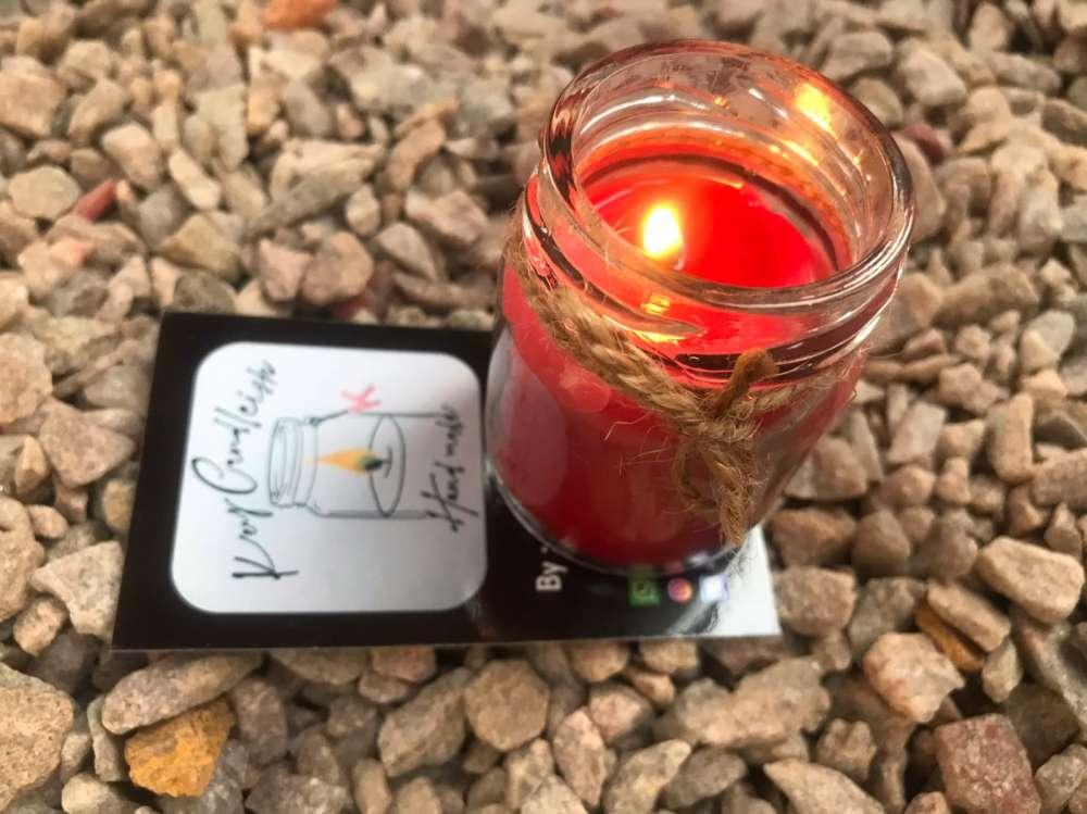 Rose jar candle