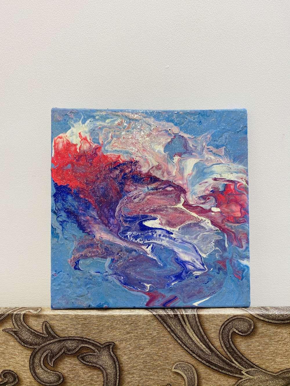 Unicorn theme fluid art