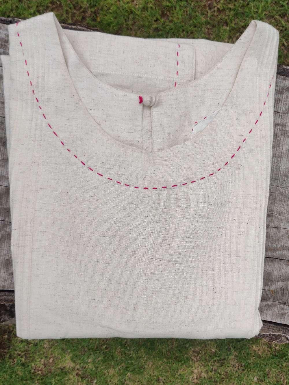 Pin Tucks Cotton Kurta