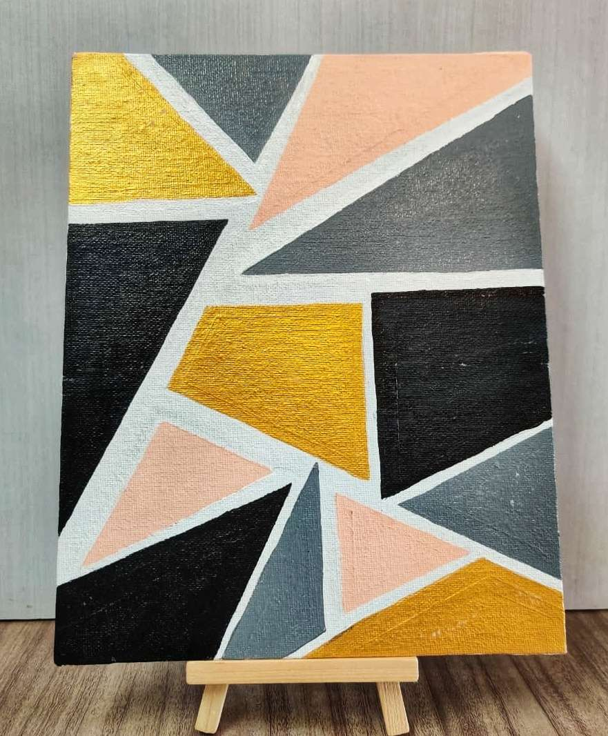 Triangle Abstract Painting