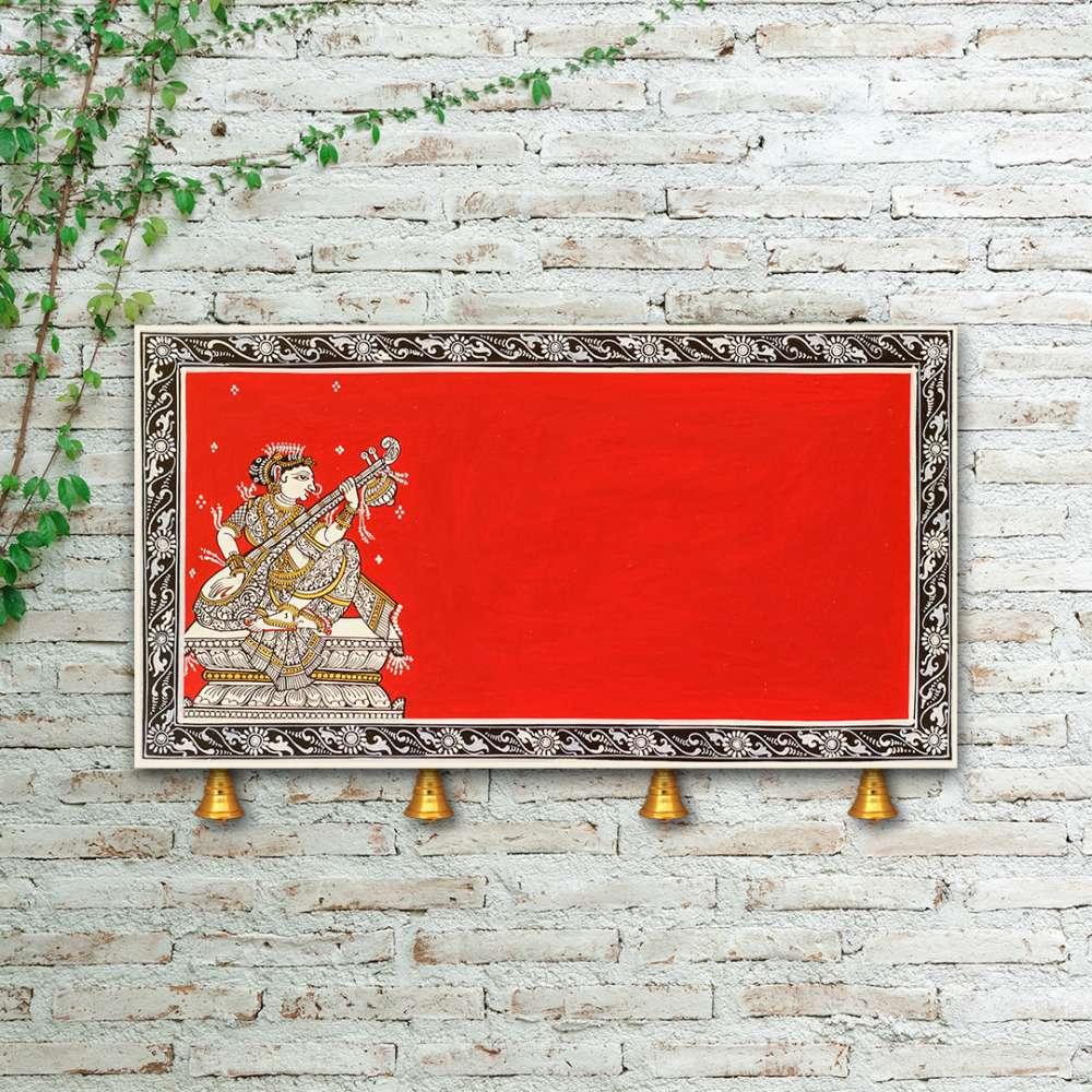 Saraswati Nameplate Red