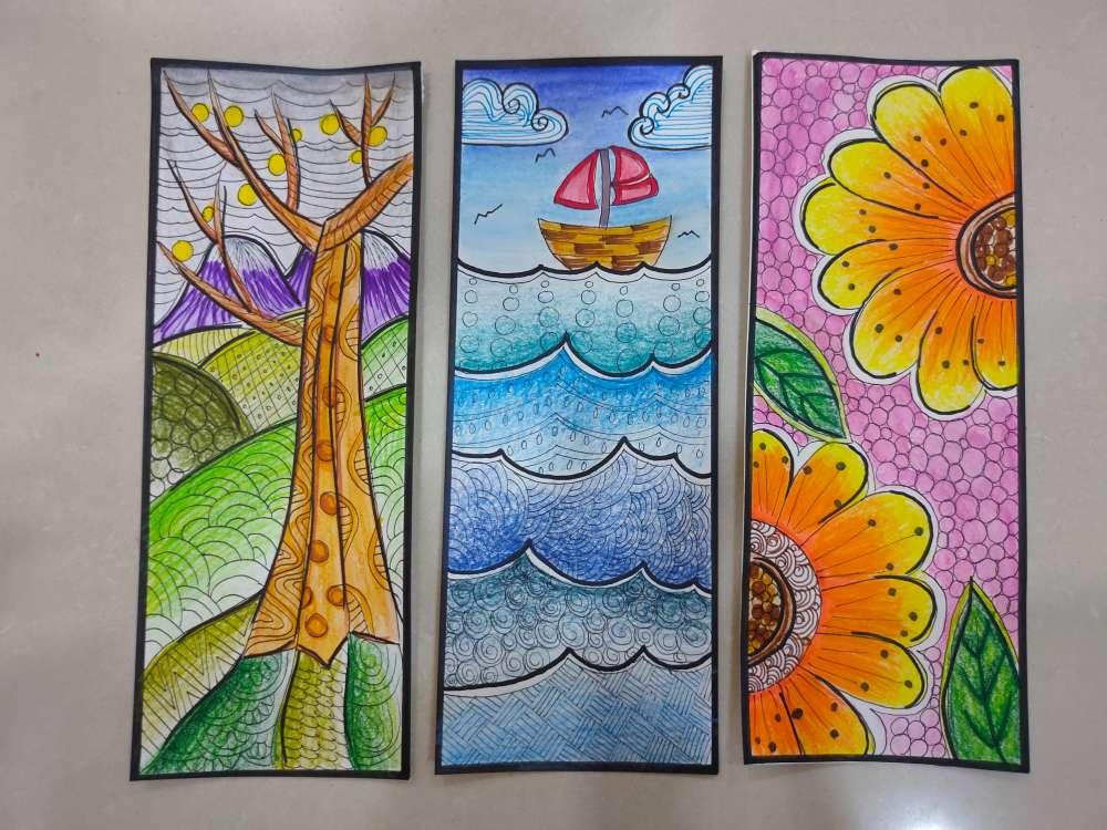 Pencil color bookmarks